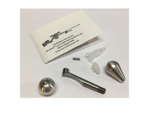 Mosin-Nagant No-Weld Low-Profile Bolt Handle with ROUND KNOB by Crazy Ivan