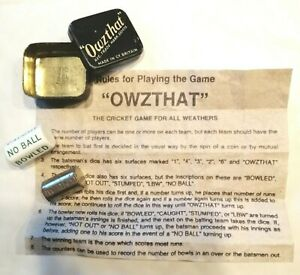 Vintage-034-Owzthat-034-metal-Cricket-Game-gambling-game