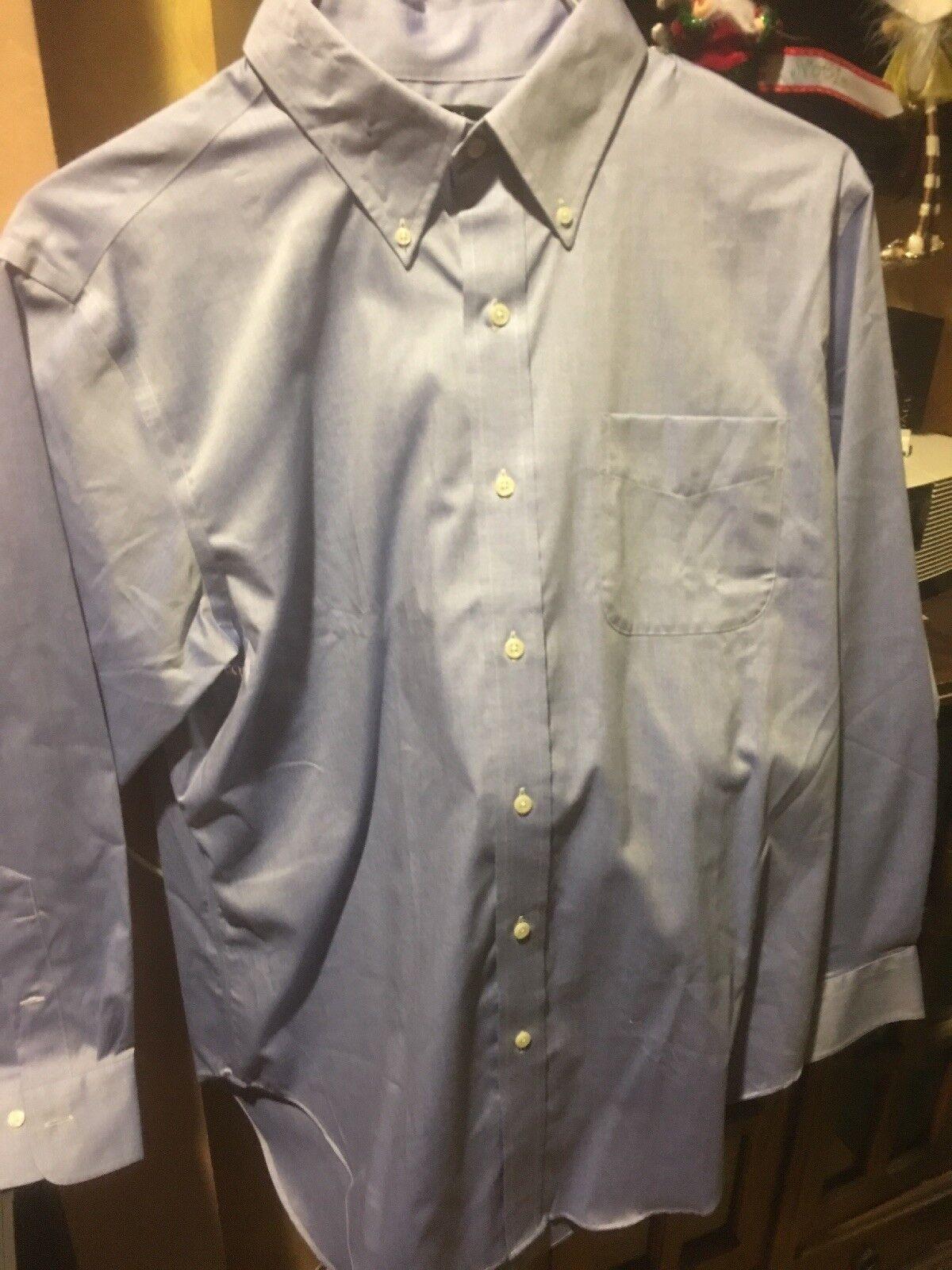 Ralph Lauren Classic Non Iron NWT Size 16 32 33 bluee