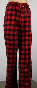Ralph Lauren Red Black Plaid Pajamas PJ's Sleep Pants NWT