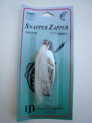 1.5 oz CHROME Saltwater Lure Kastmaster-style Snapper Zapper w// Bucktail