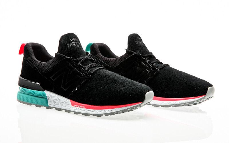 New New New Balance MS574 574 DOA Negro 633871-60-8 Hombre Sneaker Herren Zapatos 017592