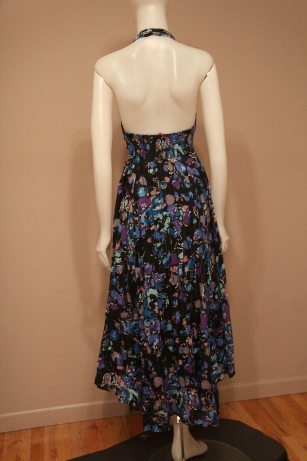 Free Free Free People bluee Floral Hi-Lo Halter Dress size 4 478cd1