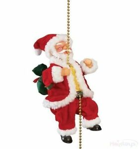 image is loading 9 034 musical climbing santa claus christmas ornament