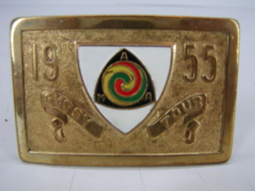 Details about  /1955 AMA Gypsy Tour Brass Belt Buckle American Motorcycle Association FREE SHIP