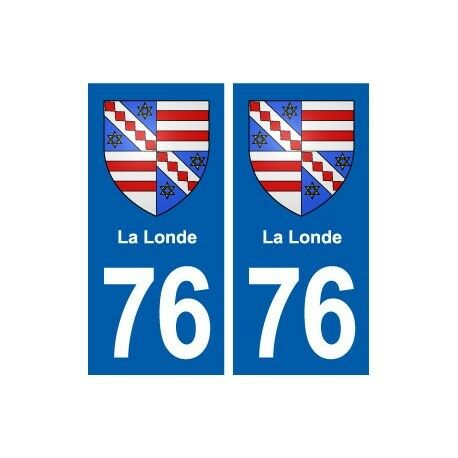 76 La Londe blason autocollant plaque stickers ville arrondis