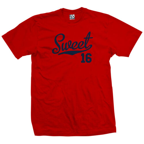 16th Birthday Sports Athlete Sweet 16 Script Tail Shirt All Sizes /& Colors