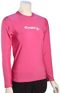 5018cb5af O Neill Women s Basic Skins LS Surf Shirt - Fox Pink - New