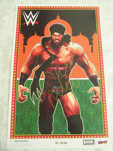 Boom Studios WWE 2019 NYCC Exclusive Poster Print Signed by Jinder Mahal