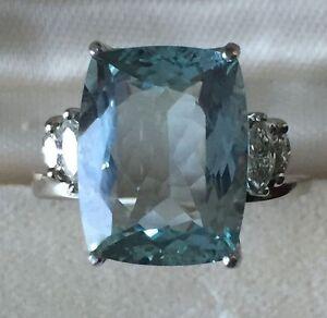 Estate-Natural-VVS-blue-6-5-carat-Aquamarine-amp-Diamond-14k-gold-engagement-ring