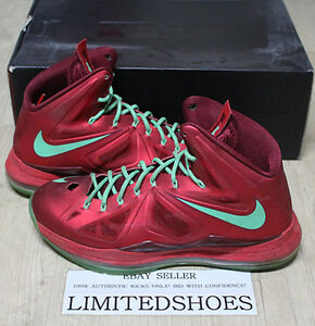 Lebron Christmas 10.Details About Nike Lebron X 10 Christmas University Red 541100 600 Us 11 Jade Bhm All Star Xiv
