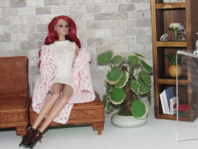 NEW POTTED PLANT DECOR FOR/FITS DOLLHOUSE MATTEL BARBIE, FASHION ROYALTY DOLL