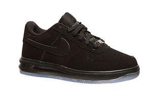 d3ff7dbc54f18b Nike Lunar Force 1  16 GS   820343 001 Triple Black Suede Big Kids ...