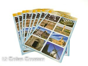 Jerusalem-stickers-Western-wall-Menorah-Jewish-Israel-8-sheet-Holy-sites-Judaica