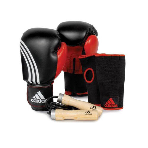 adidas Boxing Gloves Training Set with Jump Rope included!