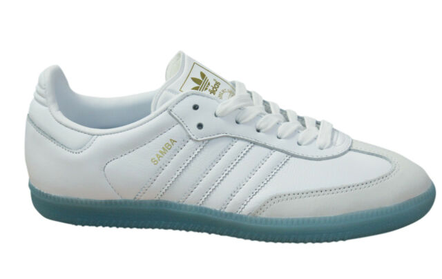 f4b4f2c4ff8 Adidas Originals Samba Womens Trainers Lace Up Leather Shoes White BY2966 M6