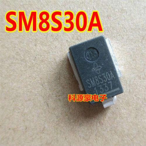 5PCS SM8S30A-E3//2D TVS 8W 30V 5/% DO-218AB SM8S30A-E3 8S30 SM8S30