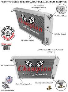 "2 Row 1/"" Discount Champion Radiator for 1977-1983 Chevy Corvette V8 Engine"