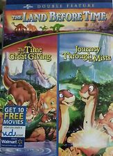 Land Before Time: 2 Dino Mite Movies Double Feature New DVD free ship & track US
