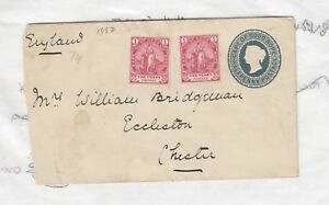 Cape-Of-Good-Hope-Uprated-Cover-To-Chester-England-Postal-History-J2314