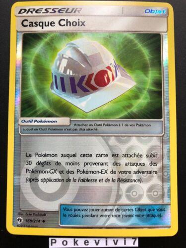 Carte Pokemon CASQUE CHOIX 169//214 REVERSE Soleil et Lune 8 SL8 FR NEUF