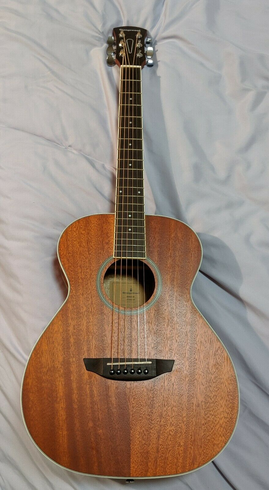 Orangewood Dana 6 String Acoustic Guitar, Right, Mahogany (OW-DANA-M)