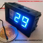 TERMOMETRO DIGITALE DA PANNELLO LED BLU -30 ~ +70 ℃ DC auto moto camper nautica
