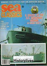 Sea Classics Nov84 Dakar African Queen Liberty Ships Merchant Marine LOON Missle