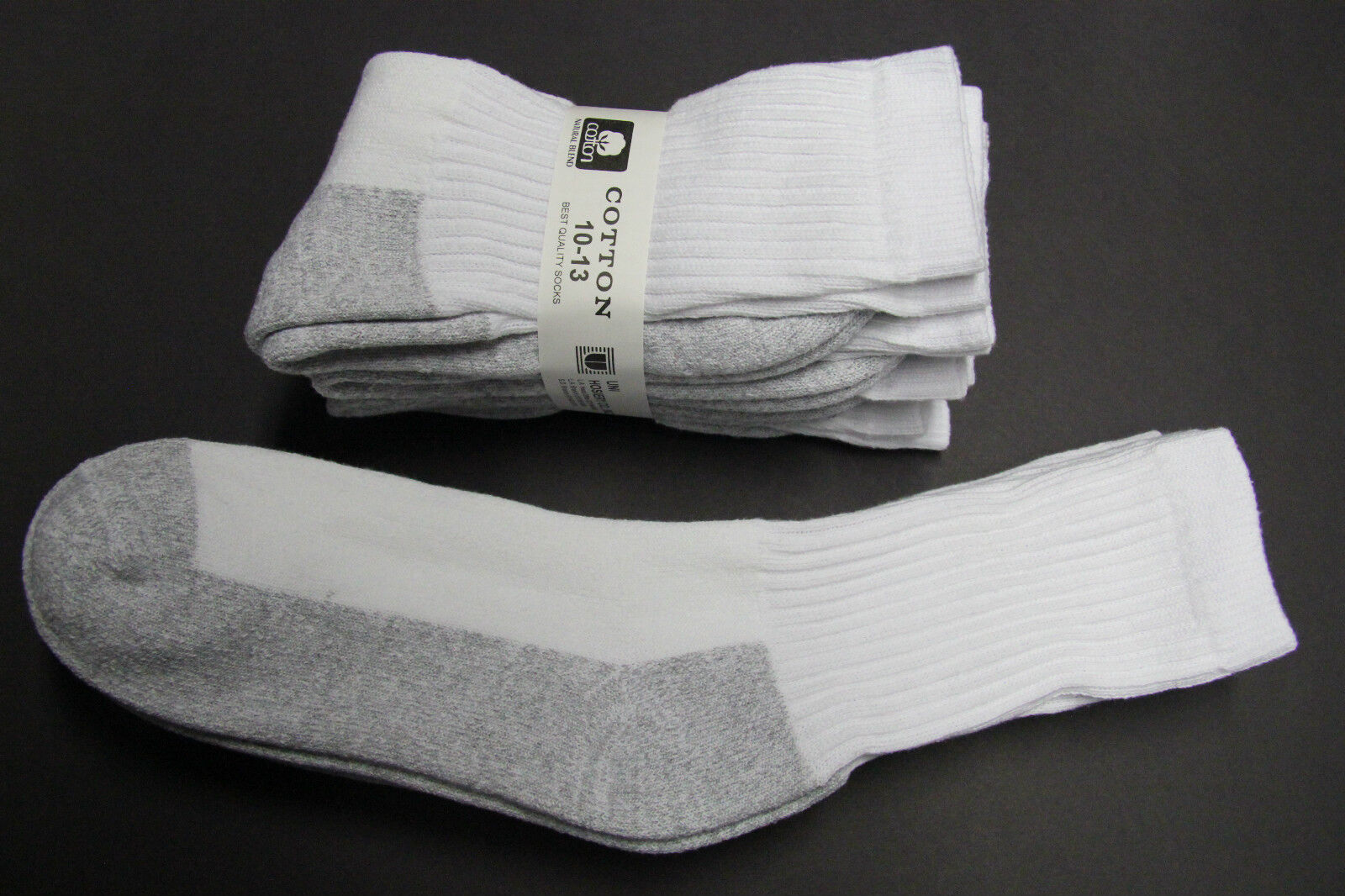 Men's Weatherproof Premium Outdoor Crew Socks 4 Pair Gray