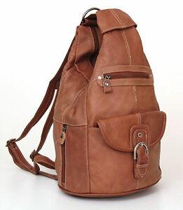 Women Genuine Leather Sling Purse Handbag Shoulder Bag Backpack ...