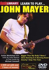 LICK LIBRARY Learn To Play JOHN MAYER BLUES ROCK POP Lesson Tutor GUITAR DVD