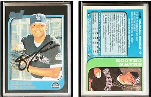 Shawn Chacon Signed 1997 Bowman #349 Card Colorado Rockies Auto Autograph