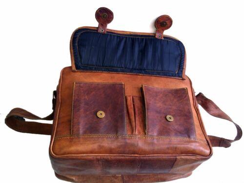 Men/'s Leather Business Messenger Laptop Shoulder Briefcase Handbag New Brown Bag