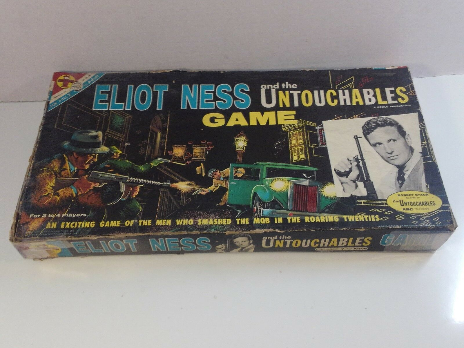 1961 ELIOT NESS and The Untouchables ABC TV SHOW - Board Game ALMOST COMPLETE