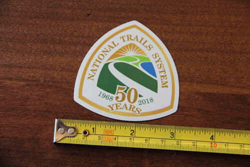 NATIONAL TRAILS SYSTEM Hiking STICKER Decal 50 Years Hike