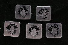 NOS! Lenin Club Lot of 5 Soviet Badge Pin Medal Communist Red Banner Cameo