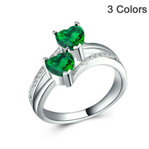 Oval Luminous Stone Ring for Women Ladies Girl Personalized Retro Charm Engagement Anniversary Jewelry Gift Size 6-10