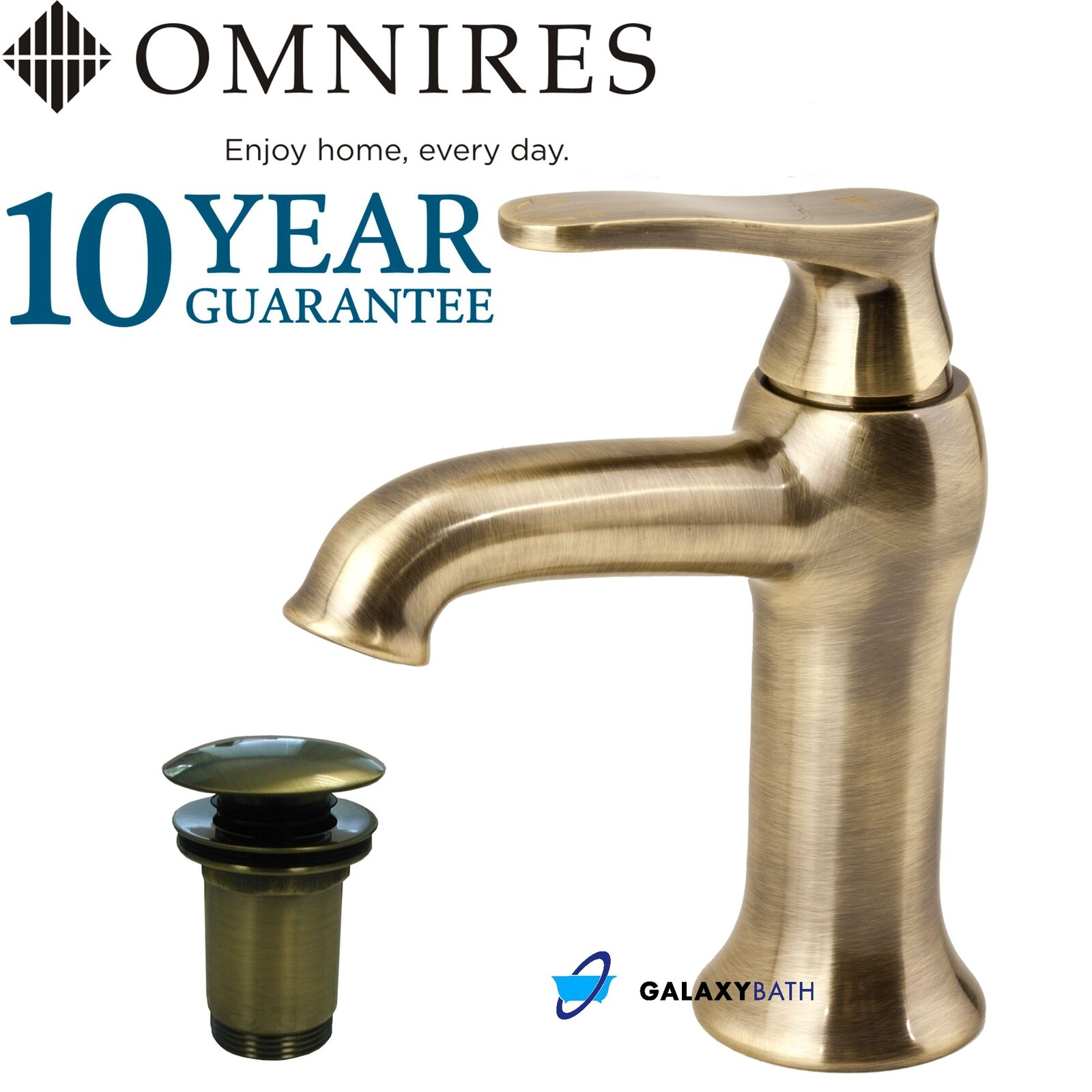OMNIRES ART DéCO TRADITIONNELLE RETRO ANTIQUE BRONZE LAITON MITIGEUR ROBINET SIMPLE