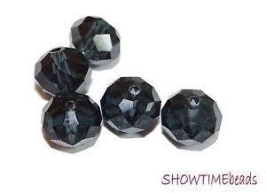 Glasschliffperle-Rondell-10x8mm-10-Stueck-dunkelblau