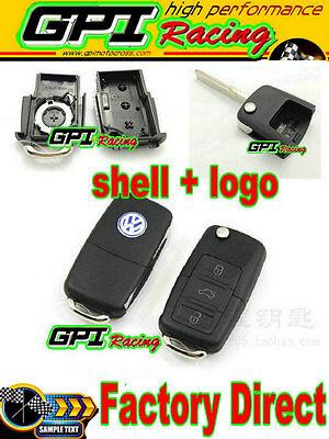 Remote Key Case Shell VW BEETLE JETTA PASSAT GOLF Rabbit MK4 MK5 R32 GTI