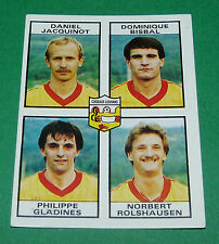 N°398 JACQUINOT BISBAL GLADINES CUISEAUX-LOUHANS D2 PANINI FOOTBALL 84 1983-1984
