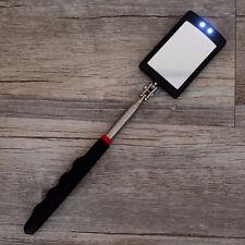 Lighted Inspection Mirror Telescoping Illuminate LED Swivel Light Extends Tools