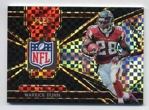 2018-Panini-Select-WARRICK-DUNN-Rare-Jersey-NFL-LOGO-PATCH-1-1-BLACK-PRIZM-2