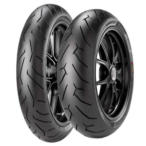 Coppia gomme pneumatici Pirelli Diablo Rosso 2 110//70 ZR 17 54W 150//60 ZR 17 66W