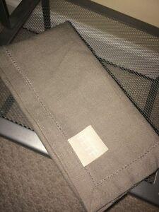 NEW-Williams-Sonoma-Fete-Rustic-Cotton-Hemstitch-Napkin-Natural-Beige-20-034-square