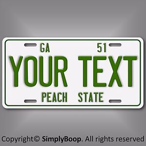 Vintage-Retro-1951-Georgia-Personalized-Your-Text-Aluminum-License-Plate-Tag-New