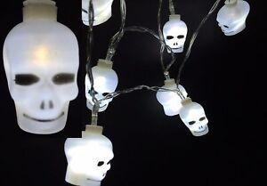 12-pieces-LED-Tete-de-mort-Halloween-Guirlande-Decoration-piles-Blanc