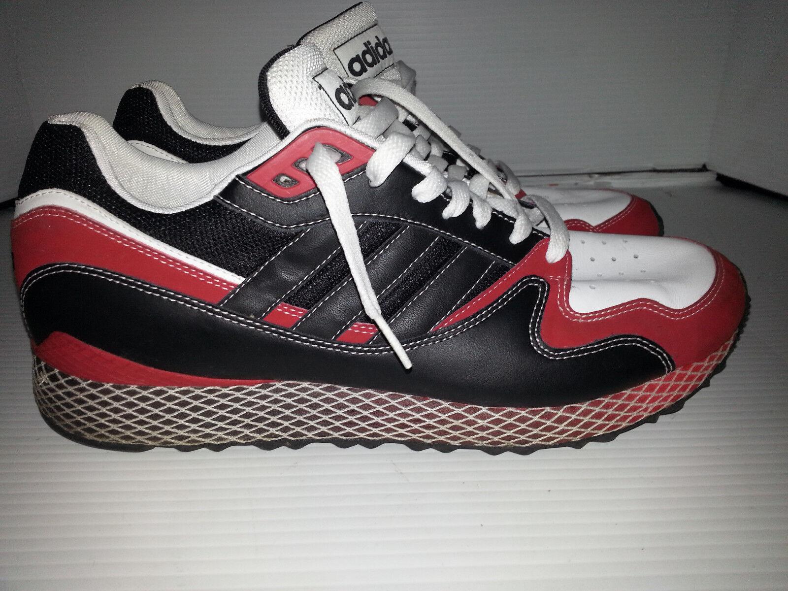 Adidas - Turnschuhe, schuhe bei tennis - - größe 11,5 rot - tennis schwarz - weiße leder - basketball 32bdd6