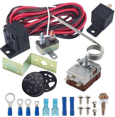 BLACKHORSE-RACING Adjustable Electric Fan Thermostat Switch Radiator Temperature Control Probe Kit