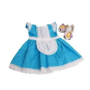 Trendy-Doll-Clothes-Outfit-Blue-Dress-Skirt-For-18-039-039-Girl-Doll-Toy-O6T1